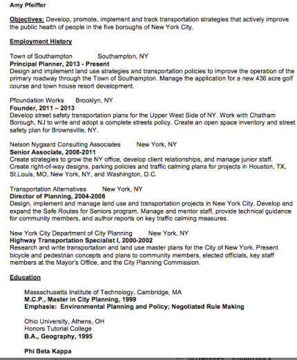 amy pfeiffers resume